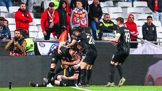 Jovic no faltó a su cita con el gol en Lisboa
