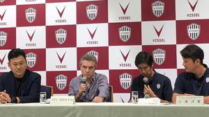 Juanma Lillo, durante su presentación con el Kobe