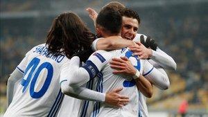 Jugadores del Dinamo de Kiev en una imagen de archivo