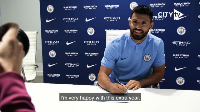 El Kun Agüero ha ampliado su vinculación con el Manchester City