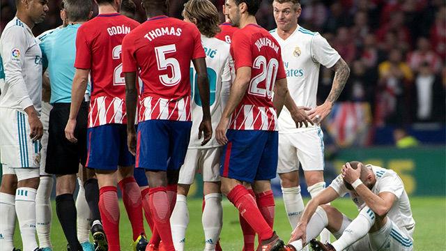 LALIGA | Atlético Madrid - Real Madrid (0-0): Balonazo de Correa a Benzema