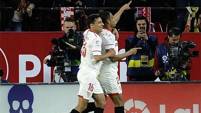 LALIGA | Sevilla - FC Barcelona (2-2): El gol de Muriel