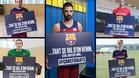 Las secciones profesionales del Barça, con los refugiados