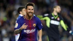 Leo Messi inició la goleada