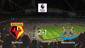 Los tres puntos se quedan en casa tras la victoria del Watford frente al Newcastle United (2-1)