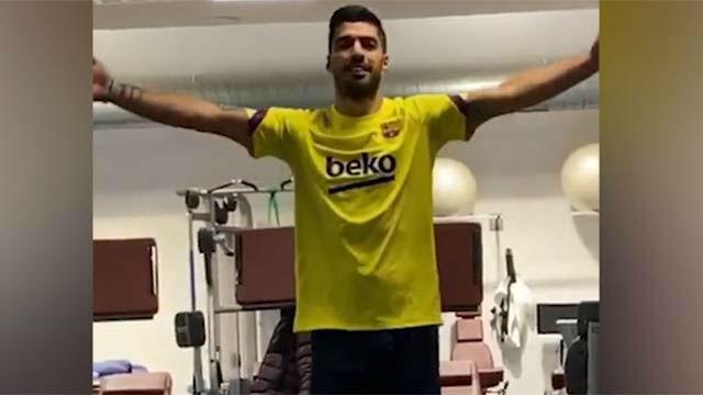 Luis Suárez, a paso firme en su recuperación