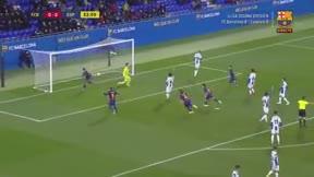 Aí marcó Araujo el 1-0 en el derbi de canteras ante el Espanyol