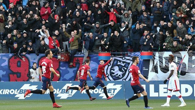 Osasuna sigue sin perder en El Sadar