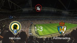 La Ponferradina vence 1-3 contra el Hércules en la ida de la final de los playoff