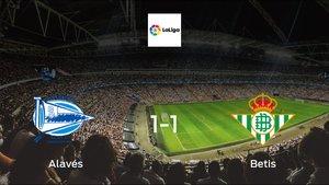 Real Betis drop points against Alavés1-1 at Estadio de Mendizorroza