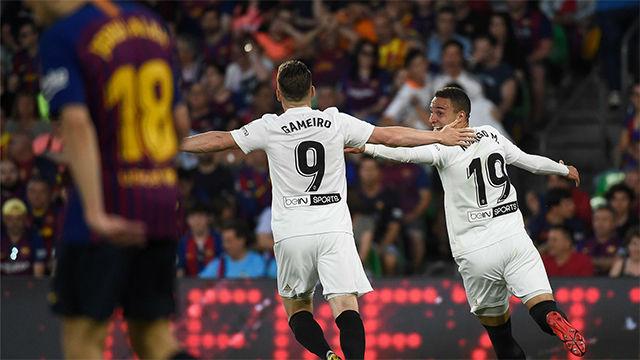 Rodrigo puso ventaja en el marcador para el Valencia