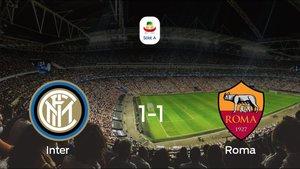 La Roma consigue un empate a 1 frente al Inter