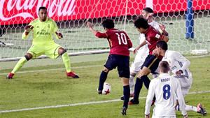 Shibasaki dispara a puerta para marcar su primer gol en el Real Madrid - Kashima Antlers de la final del Mundial de Clubes 2016