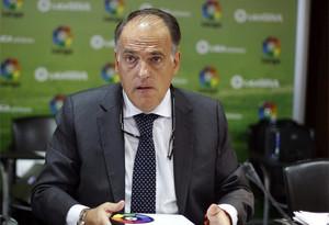 Tebas no aprueba el comportamiento del Barcelona