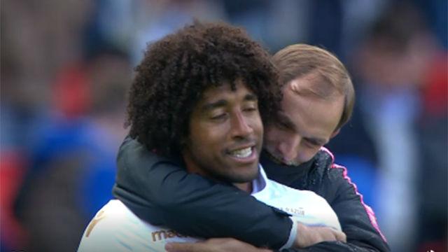 Tuchel consoló a Dante tras una gran entrada a Neymar