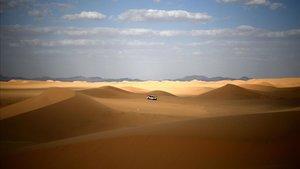 Una imagen del desierto de Arabia Saudí