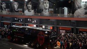 El Valencia - Atalanta del 10 de marzo causó aglomeraciones fuera de Mestalla
