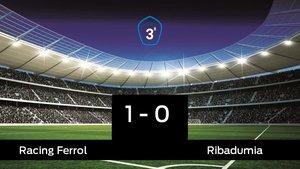 Victoria 1-0 del Racing Ferrol ante el Ribadumia