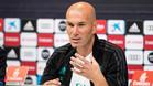 Zinedine Zidane, entrenador del Real Madrid, en rueda de prensa