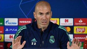 Zinedine Zidane habla en la previa del partido ante el Galatasaray