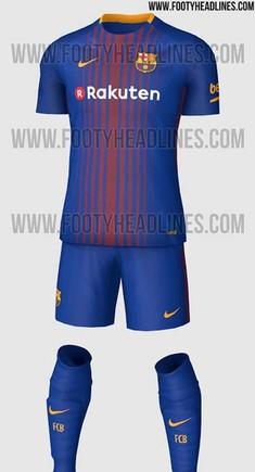 Esta es la nueva equipación del FC Barcelona 2017   2018 c686c5cd20c