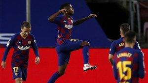 Ansu Fati abrió el camino de la victoria del Barça con su golazo