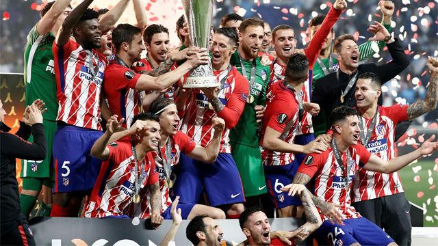 El Atlético de Madrid, campeón de la Europa League tras ganar al Olympique de Marsella