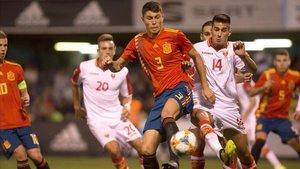 El azulgrana Jorge Cuenca abandona la selección sub-21 por lesión