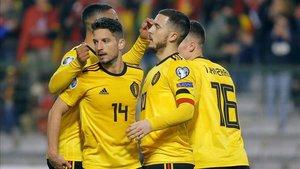 Bélgica acabó sumando los tres puntos a pesar del grave error de Courtois.