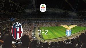 El Bolonia y el Lazio suman un punto tras empatar a dos