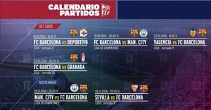Calendario Del Barca.Conozca El Duro Calendario Que Le Espera Al Barca En Octubre Y Noviemb