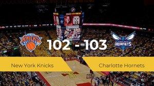 Charlotte Hornets gana a New York Knicks por 102-103