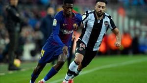 Dembélé, en el partido ante el Levante