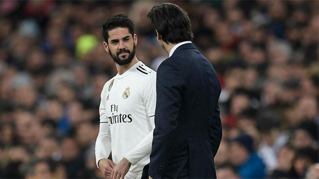 Depresión Isco: juega con Solari la mitad que con Zidane