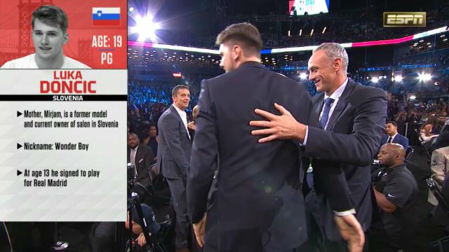 Doncic, elegido tercero del Draft de la NBA