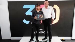 Fernando, con su director Eric Boullier
