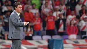 Gallardo, entrenador de River Plate. Su equipo no estará en la final del Mundial de Clubes