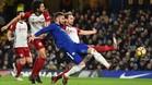 Giroud fue de los más destacados en un Chelsea con claroscuros