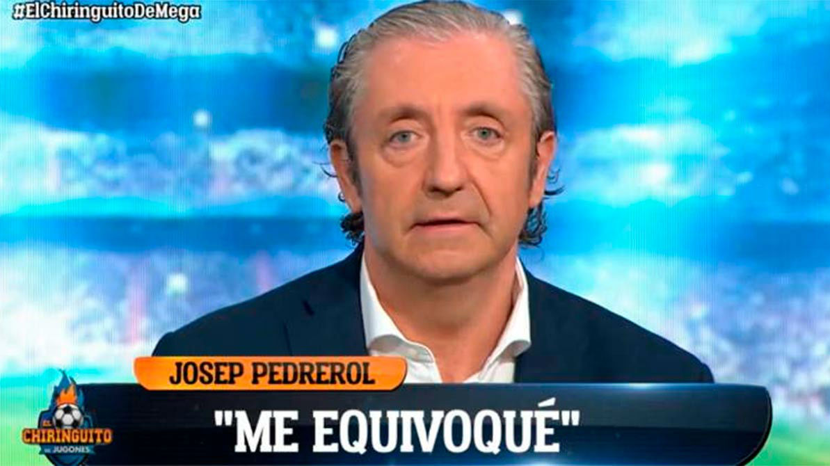 El golpe de realidad de Pedrerol: He hecho el panoli defendiendo a Bale