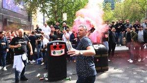 Imagen de archivo de incidentes previos a un Tottenham - Ajax