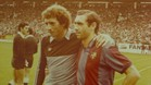 Jesús Castro, junto a su hermano Quini, en una visita del Barça a El Molinón