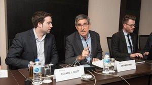 Jordi Bertomeu, durante una reunión de la Euroliga