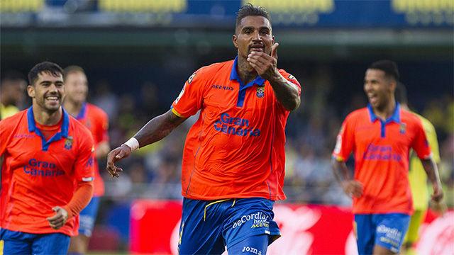 Kevin Prince Boateng marcó un golazo increíble con la UD Las Palmas ante el Villarreal