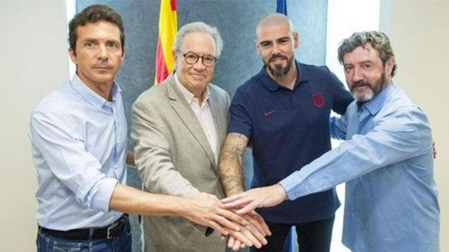 Las primeras declaraciones de Víctor Valdés en su vuelta al Barça
