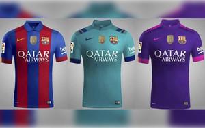 Las tres camisetasque lucirán los jugadores del Barçala proxima temporada