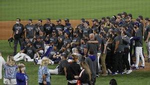 Los Dodgers celebran su éxito en las Series Mundiales