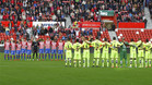 Los equipos guardarán un minuto de silencio
