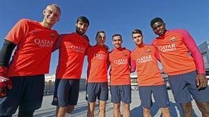 Los seis fichajes que ha realizado esta temporada el FC Barcelona: Cillessen, André Gomes, Digne, Paco Alcácer, Denis Suárez y Umtiti