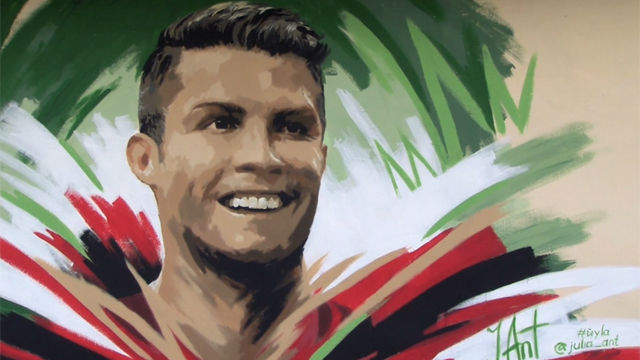 El muro de Cristiano Ronaldo