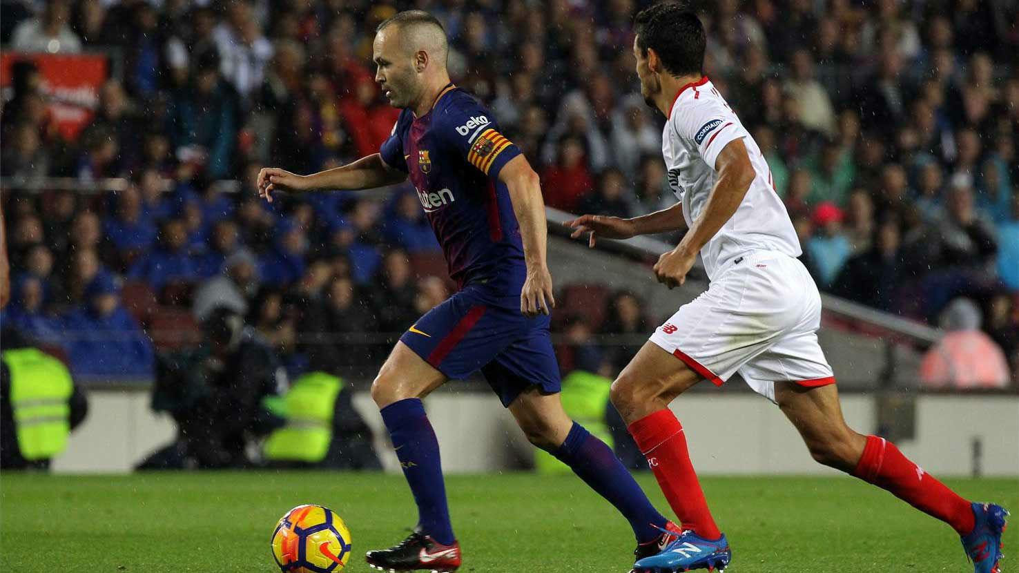 EL once del FC Barcelona contra el Sevilla